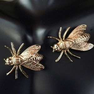 Vintage Gold Tone Insect Fly Scatter Pins